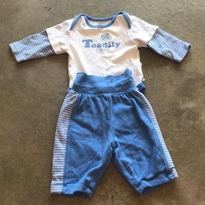 """Toadily Cool"" Baby Boy Outfit"
